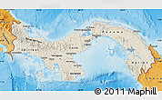 Shaded Relief Map of Panama, political shades outside, shaded relief sea