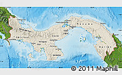 Shaded Relief Map of Panama, satellite outside, shaded relief sea
