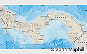 Shaded Relief Map of Panama, semi-desaturated, land only