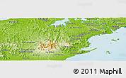 Physical Panoramic Map of Capira