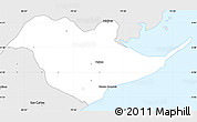 Silver Style Simple Map of Chame