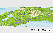Physical Panoramic Map of Panama