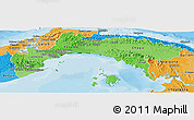 Political Shades Panoramic Map of Panama