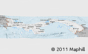 Gray Panoramic Map of Panama