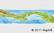 Physical Panoramic Map of Panama