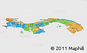 Political Panoramic Map of Panama, cropped outside