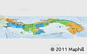 Political Panoramic Map of Panama, lighten