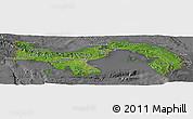 Satellite Panoramic Map of Panama, desaturated