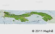 Satellite Panoramic Map of Panama, lighten
