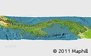 Satellite Panoramic Map of Panama, physical outside, satellite sea
