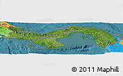 Satellite Panoramic Map of Panama, political outside, satellite sea