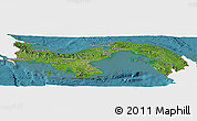 Satellite Panoramic Map of Panama, single color outside