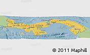 Savanna Style Panoramic Map of Panama, single color outside