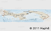 Shaded Relief Panoramic Map of Panama, lighten
