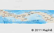 Shaded Relief Panoramic Map of Panama