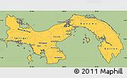 Savanna Style Simple Map of Panama, cropped outside