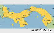 Savanna Style Simple Map of Panama, single color outside