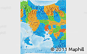 Political 3D Map of Veraguas