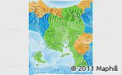 Political Shades 3D Map of Veraguas
