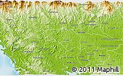 Physical 3D Map of La Mesa