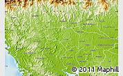 Physical Map of La Mesa