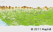 Physical Panoramic Map of La Mesa