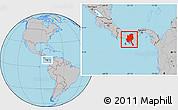 Gray Location Map of Veraguas