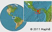 Satellite Location Map of Veraguas