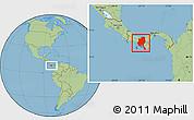 Savanna Style Location Map of Veraguas