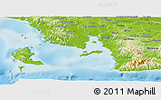 Physical Panoramic Map of Montijo