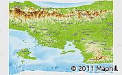 Physical Panoramic Map of Veraguas