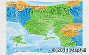 Political Shades Panoramic Map of Veraguas