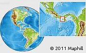 Physical Location Map of Rio de Jesus, highlighted parent region