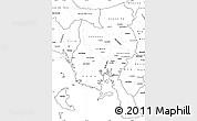 Blank Simple Map of Veraguas