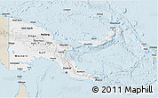 Classic Style 3D Map of Papua New Guinea