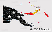 Flag 3D Map of Papua New Guinea, flag centered