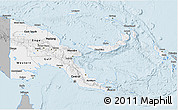 Gray 3D Map of Papua New Guinea