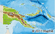 Physical 3D Map of Papua New Guinea, shaded relief outside