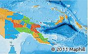 Political 3D Map of Papua New Guinea