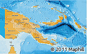 Political Shades 3D Map of Papua New Guinea