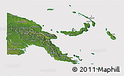 Satellite 3D Map of Papua New Guinea, cropped outside