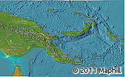 Satellite 3D Map of Papua New Guinea