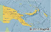 Savanna Style 3D Map of Papua New Guinea, single color outside