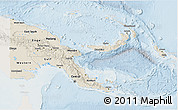 Shaded Relief 3D Map of Papua New Guinea, lighten