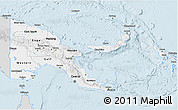 Silver Style 3D Map of Papua New Guinea