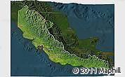 Satellite 3D Map of Central, darken