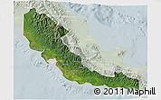 Satellite 3D Map of Central, lighten