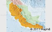 Political Map of Central, lighten