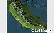 Satellite Map of Central, darken