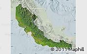 Satellite Map of Central, lighten
